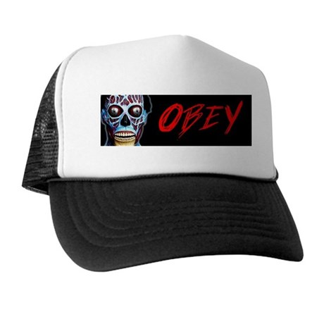 Obey Bumper Sticker Trucker Hat