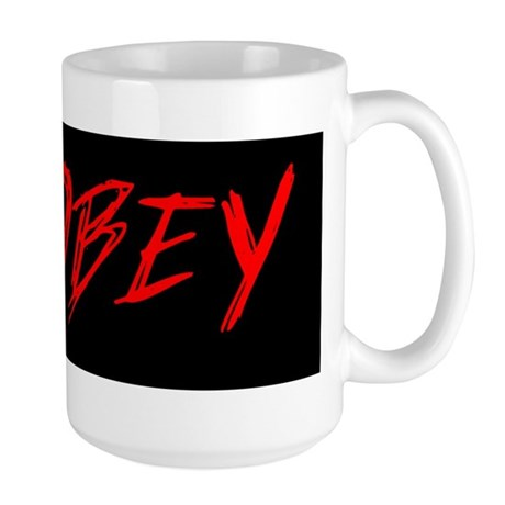 Obey Bumper Sticker Large Mug
