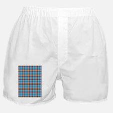 Aqua and Pink Tartan Plaid Boxer Shorts