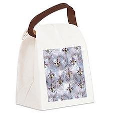 Golden Fleur de Lis Canvas Lunch Bag