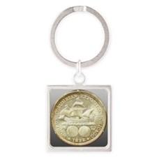 Worlds Columbian Exposition Half D Square Keychain