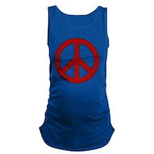 Crimson Peace Sign Maternity Tank Top
