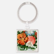 Vintage Seed Packet Square Keychain
