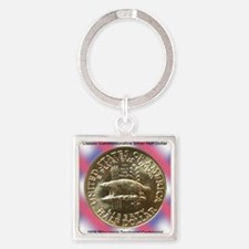 Wisconsin Territorial Centennial H Square Keychain