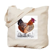 Water Colour Chicken Tote Bag