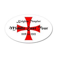 Knights Templar world Tour 35x21 Oval Wall Decal