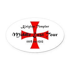 Knights Templar world Tour Oval Car Magnet