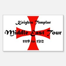 Knights Templar world Tour Sticker (Rectangle)