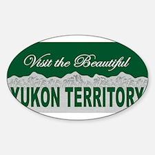 Visit Beautiful Yukon Territo Oval Decal