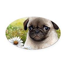 Dog 114 Oval Car Magnet