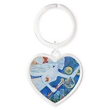 """The Angel of Hope"" by Studio OTB Heart Keychain"