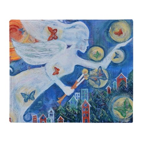 """The Angel of Hope"" by Studio OTB Throw Blanket"