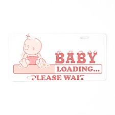 Baby Loading Aluminum License Plate