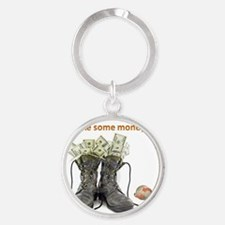 MONEY BOOTS Round Keychain