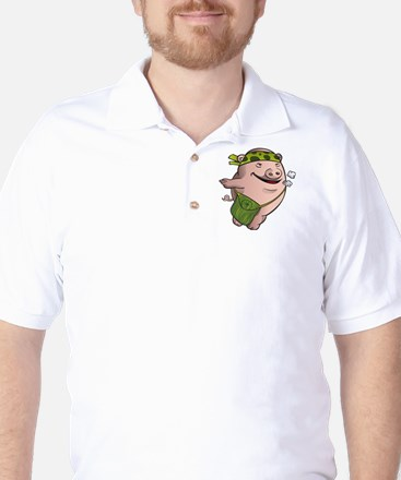 Mr. Squiggly Piggly Golf Shirt