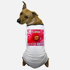 Florida I Love You Camellia Dog T-Shirt