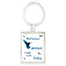 Well-behaved Hummingbird Portrait Keychain