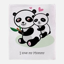 Panda Love Throw Blanket