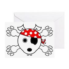 pirate dog Greeting Card