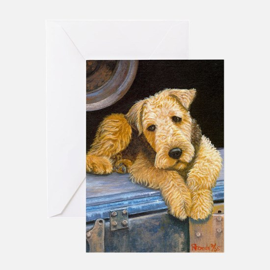 Airedale Terrier Dog Greeting Cards