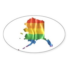 Gay State Pride Rainbow, Alaska AK Bumper Decal