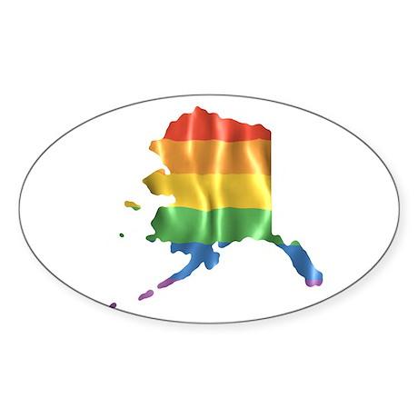 Gay State Pride Rainbow, Alaska AK Bumper Sticker