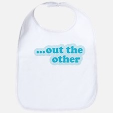 """""""Out the Other"""" Twins Bib"""