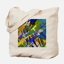 The City I - Abstract Blue Yellow Light Tote Bag