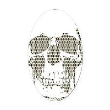 Sherlock Skull Oval Car Magnet