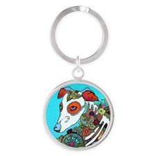 Dia Los muertos, day of the dead do Round Keychain