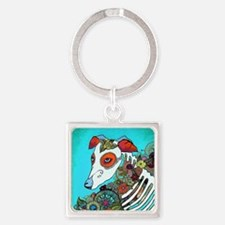 Dia Los muertos, day of the dead d Square Keychain