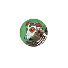 Dia los muertos, dog  Mini Button