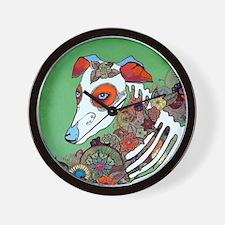 Dia los muertos, dog  Wall Clock