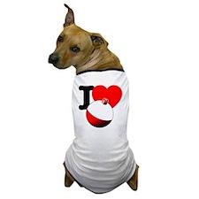 I Heart Fishing bobber Dog T-Shirt
