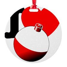 I Heart Fishing bobber Ornament