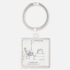Will Work For... Square Keychain