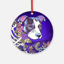 Dia los muertos, dog Round Ornament