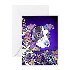 Dia los muertos, dog Greeting Card