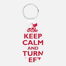 Keep Calm and Turn Left Keychains