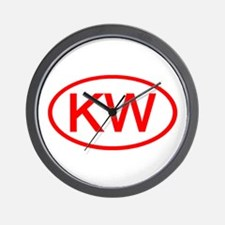 KV Oval (Red) Wall Clock