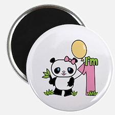 Lil' Panda Girl First Birthday Magnet