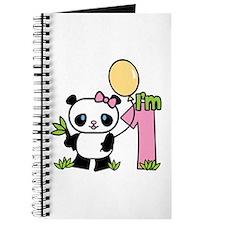 Lil' Panda Girl First Birthday Journal