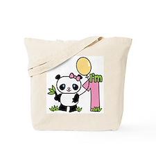 Lil' Panda Girl First Birthday Tote Bag