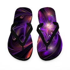 Purple FireFly Flower Flip Flops