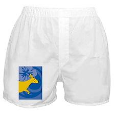 Kangaroo Ornament (Oval) Boxer Shorts