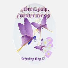 Fibromyalgia Awareness Oval Ornament