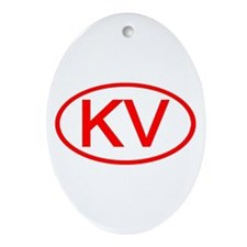 KV Oval (Red) Oval Ornament