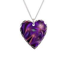 Purple FireFly Flower Necklace