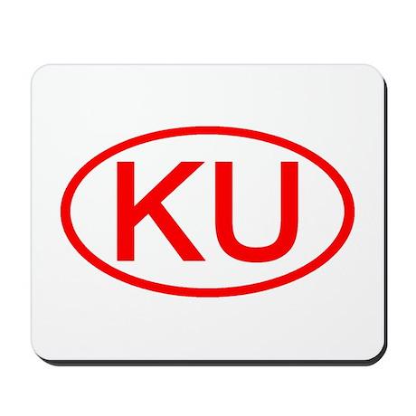 KU Oval (Red) Mousepad