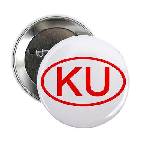 KU Oval (Red) Button